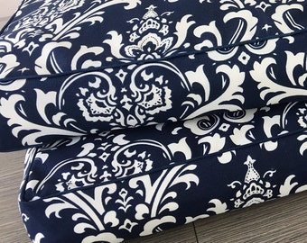 Dog Bed Cover  - Navy floral design- indoor/outdoor - 3 sizes
