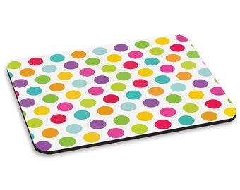 Polka Dot Multicolour Pattern PC Computer Mouse Mat Pad