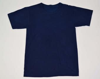 Hand dyed Indigo organic cotton T-shirts