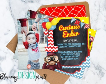 Curious George Thank You Card