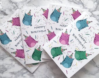 Cat-Tastic Birthday Cards 4 PACK