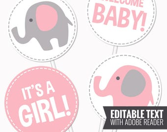 elephant baby shower pink table pink and gray neutral baby shower circles