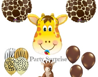 Giraffe Balloon, Kids Animal Party Balloon, Farm  Zoo Party Circus Party Zoo Party, Safari Jungle Baby Shower Giraffe Decorations