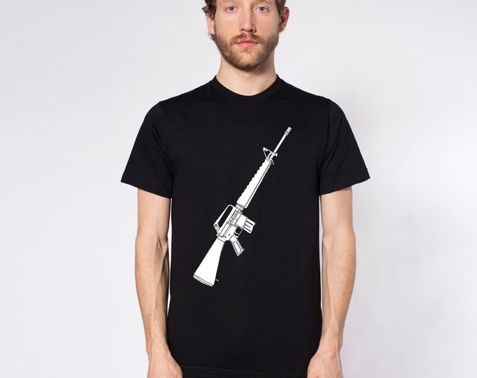 KillerBeeMoto: Limited Release M16 Vietnam Era Rifle Short or Long Sleeve T-Shirt