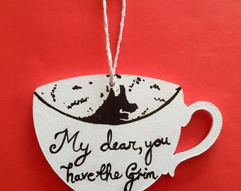 Grim Cup Harry Potter inspired hanging decoration ornament