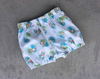 Bunny bloomers, baby boys easter shorties, handmade boys pants size 6-12 months