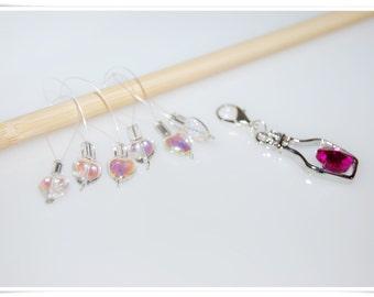 knitting marker stitch marker knitters gift chain marker snag free marker knitting tools crystal marker