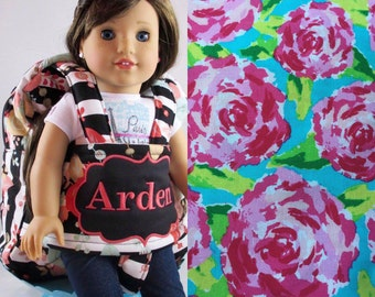 """Darling and Doll Backpack in Lilly Pulitzer Inspired """"First Impressions"""""""
