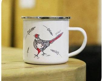 Pheasant Enamel Mug