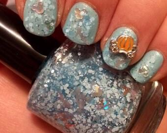 Glass Slipper ~ 15 mL Full size bottle ~ Indie Nail Polish Glitter Lacquer