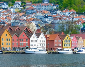 Norway Photography, Bergen, Norway Photo, Norway Large Wall Art