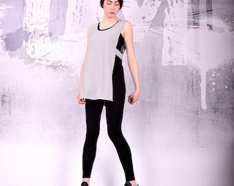 Poncho, Knit Top, Overall, Bolero, Asymmetric top, Asymmetric Vest, Shrug, Knit Tunic, Spring Vest, Spring Top  by UrbanMood - UM-164-CO