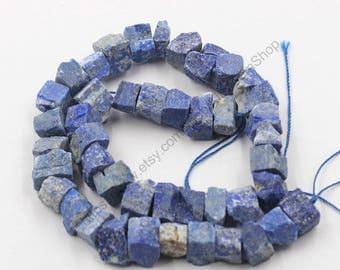 Raw Lapis Lazuli Beads -- chip nugget loose bead MHA-124