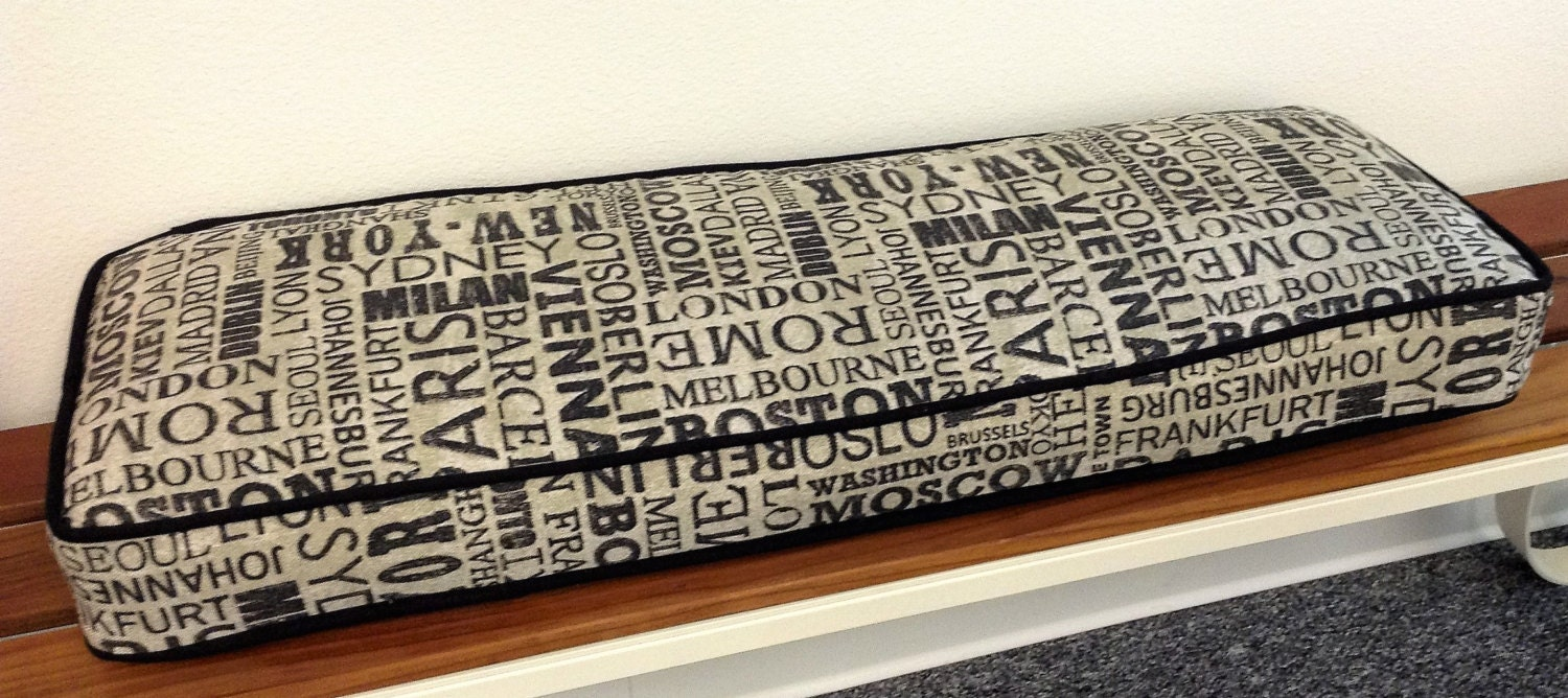 Customizable Bench Cushion Cushion Cover With Foam Insert