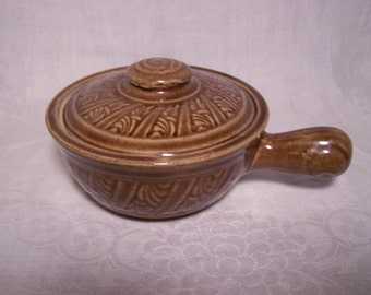 Monmouth ? Small Crock w/ Lid