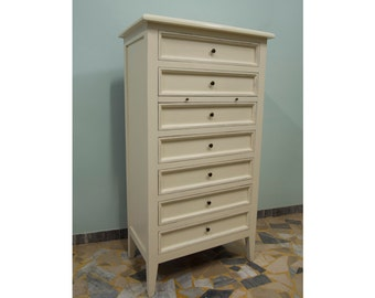 Ivory Dresser with seven drawers