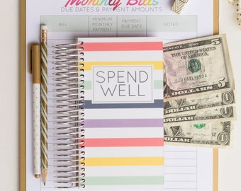 Spend Well Budgeting System - Candy Stripes