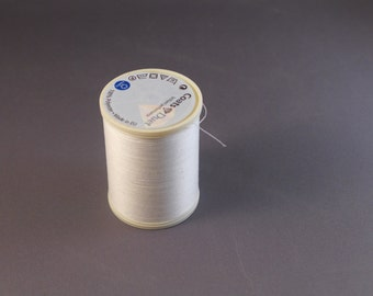 1000m Reels Coats 100% Polyester Sewing Thread. White. PRICE REDUCTION!