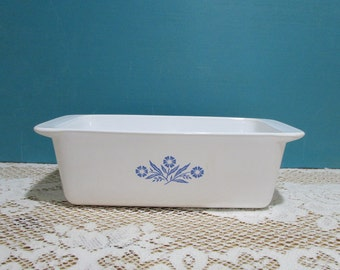 Corning Ware Blue Cornflower Loaf Pan ~ Corningware P-315 ~ 9 X 5 X 3 ~ Bread Dish ~Country Kitchen ~ Circa 1972-1987 ~ Meat Loaf ~Casserole