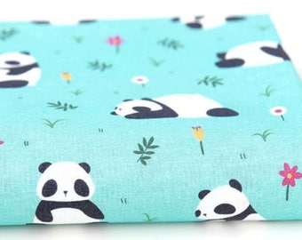 Cotton Fabric Panda By The Yard