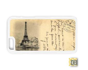 Galaxy S8 Case, S8 Plus Case, Galaxy S7 Case, Galaxy S7 Edge Case, Galaxy Note 5 Case, Galaxy S6 Case - Vintage Eiffel Tower Postcard