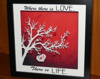 Beautiful, handmade Love frame