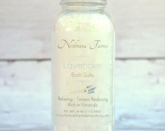 Lavender Bath Salts - Natural Bath Salts - Spa Bath Salts - Detoxing Bath Salts - Tension Reducing Salts - Relaxing Lavendar Bath Salts