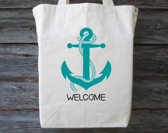 Wedding Welcome Bag, Anchor Tote, Anchor Bag, Beach Tote, Beach Wedding Tote, Welcome Bag, Anchor Tote Bag, Destination Wedding, Welcome Bag