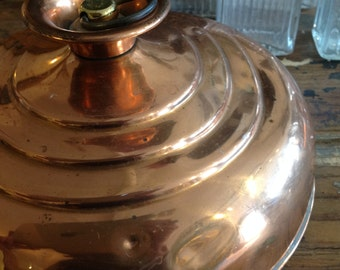 Shiny Copper Bed Warmer with Brass Stopper