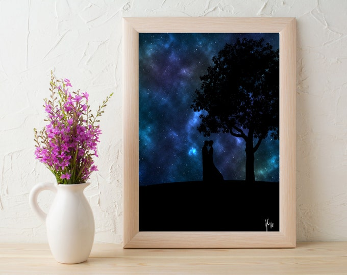 Featured listing image: Love Under Stars 8x10 Print