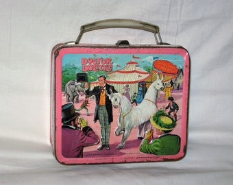 vintage 1967 aladdin dr dolittle metal lunchbox