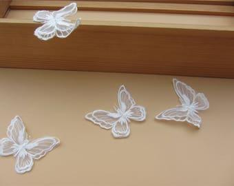 off White butterfly Applique ,3D applique,Lace applique
