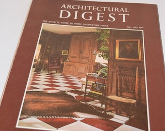 "VINTAGE Fall 1967 ""Architectural Digest"" Magazine.  A Pictorial Digest of Outstanding Architecture, Interior Decorating, and Landscaping."