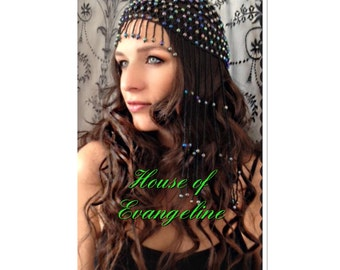 Beaded Headdress/Festival/Gypsy/Belly dancer.Ref:065