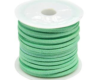 5 Meter/Roll Aquamarine Faux Suede Cord 3x1.5mm ( No.66)