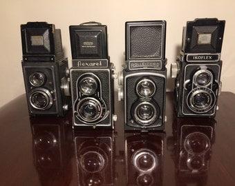 Set of Four TLR camera's (flexaret, ikoflex & rolleicord)