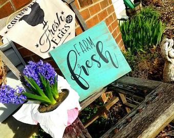 Farm fresh sign; farmhouse decor