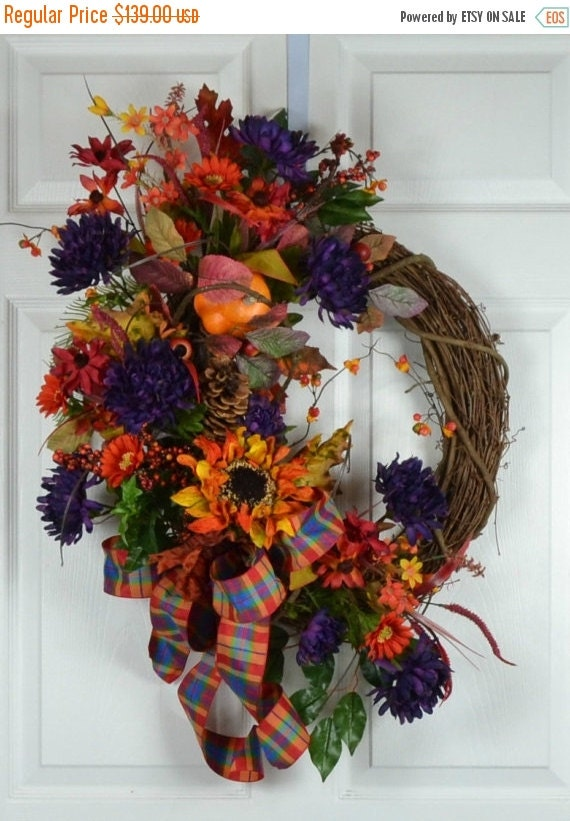 Sale Fall Door Wreath Autumn Door Wreaths By