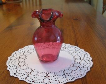 Vintage Cranberry Glass Vase