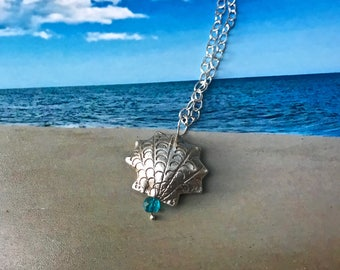 Back to the Beach with Silver Shell Necklace