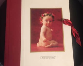 ANNE GEDDES Photo Album Book, Hardcover Baby Photograhpy Photo Book Keepsake by Andrews and McMeel Hardback Book, 1990s