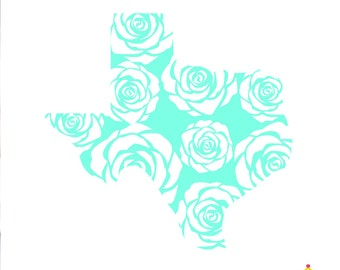 Texas Yeti Decal, Texas Decal, Texas Decal for Yeti, Texas Flower Decal, Car Decal, Texas Rose Decal, Yeti Decal, Cup Decal