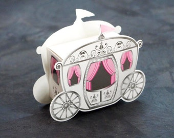 Enchanted Carriage Favor Boxes, 2-Inch, 12-Piece