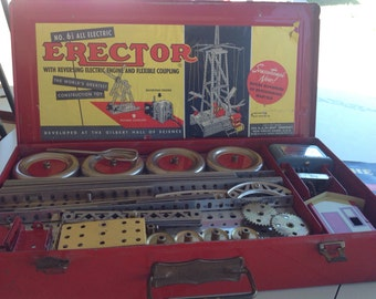 1950's Gilbert  Erector Set 6 1/2 All Electric Vintage Toy