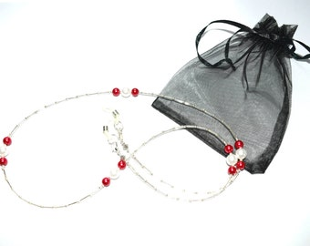 Handcrafted Ruby Tuesday Spectacle Glasses Chain / Necklace