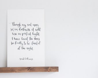 Stars Quote  |  Sarah Williams  |  Watercolor Print  |  Calligraphy