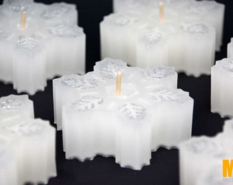 SNOWFLAKES Candles Winter Wonderland Scent, Christmas Candles, Winter Candles, Christmas Decor, Home Decor, White Candles, MagicalCandlesFL