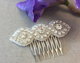 crystal comb, hair comb, wedding comb, hair accessory, wedding accessory, decorative com, bridal comb, silver comb