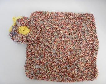 Wash Cloths - Set of 2 - Cottage/Yellow Colors - 100% Cotton - Hand Crocheted - Dishcloth - Kitchen - Cleaning - New - Homemade - Bathroom