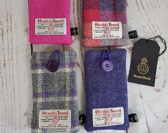 Harris Tweed Iphone 7 Pouch, Tweed Phone Pouch, Tartan Phone Pouch, Iphone 7 Phone Pouch, Large Pouch, Phone Protection, screen protection,
